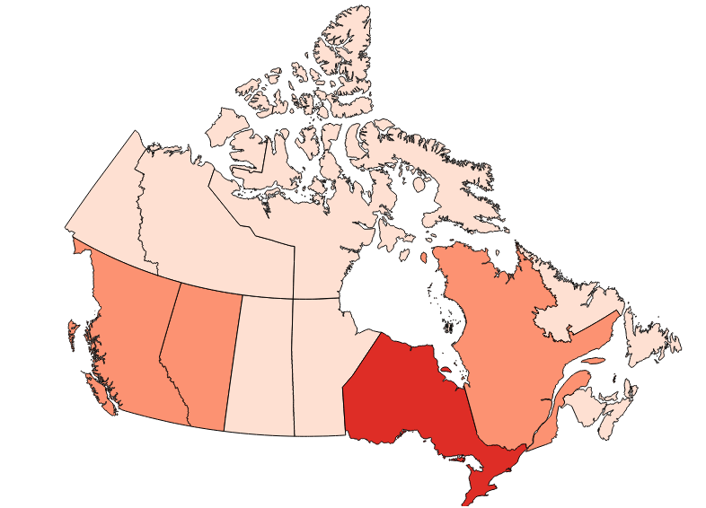 Map of Canadian Immigration Data