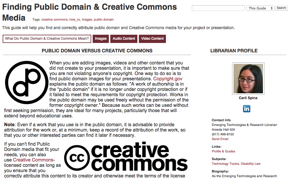 Finding Public Domain & Creative Commons Media Guide